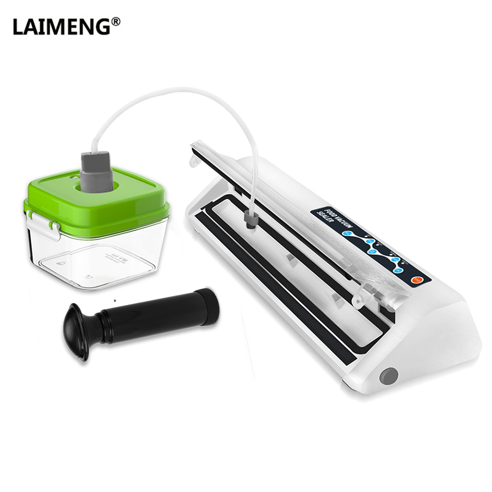 все цены на LAIMENG Vacuum Sealer Machine With Vacuum Container For Food Fresh Saver Vacuum Packer with Vacuum Bags Sealer Packaging S191 онлайн