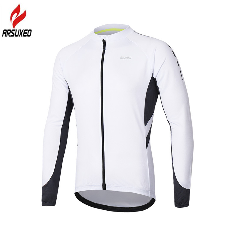 ARSUXEO Spring Summer Pro Breathable Mens Long Sleeve Cycling Jersey Reflective Bicycle Bike Shirts MTB Mountain Bike JerseysARSUXEO Spring Summer Pro Breathable Mens Long Sleeve Cycling Jersey Reflective Bicycle Bike Shirts MTB Mountain Bike Jerseys