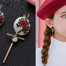 New Classic Creative Flowers Pineapple Embroidered  Ball Earring Crystal Earrings For Women Prevent Allergy Alloy Jewelry