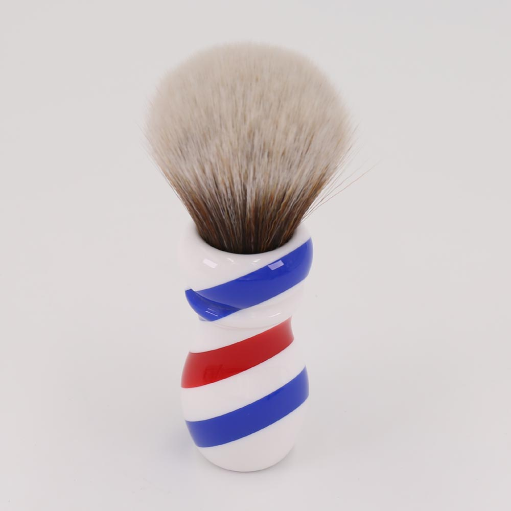 Yaqi New Barber Pole Style 24mm Mew Brown Synthetic Knot Shaving Brush