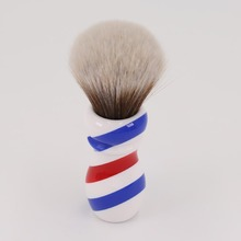 Yaqi Új Barber Pólus Stílus 24mm Mew Brown Synthetic Knot borotva kefe