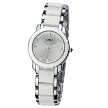 Kimio Girls Trend Spherical Rhinestones Quartz Wrist watch White