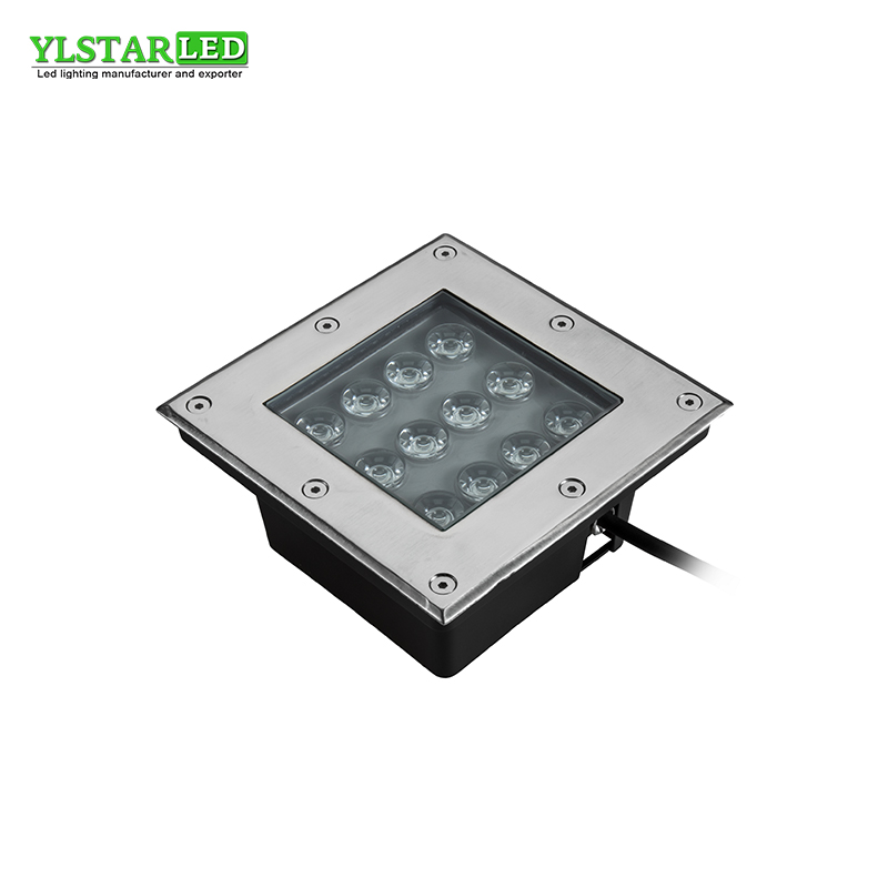 YLSTAR Free Shipping AC85-265V IP67 12W square Buried Lamp Inground Lighting Outdoor LED Underground Lamp Light Garden Light free shipping led underground lamps 6w inground light ip67 built in outdoor lighting ac85 265v lul a 6w 3years warranty