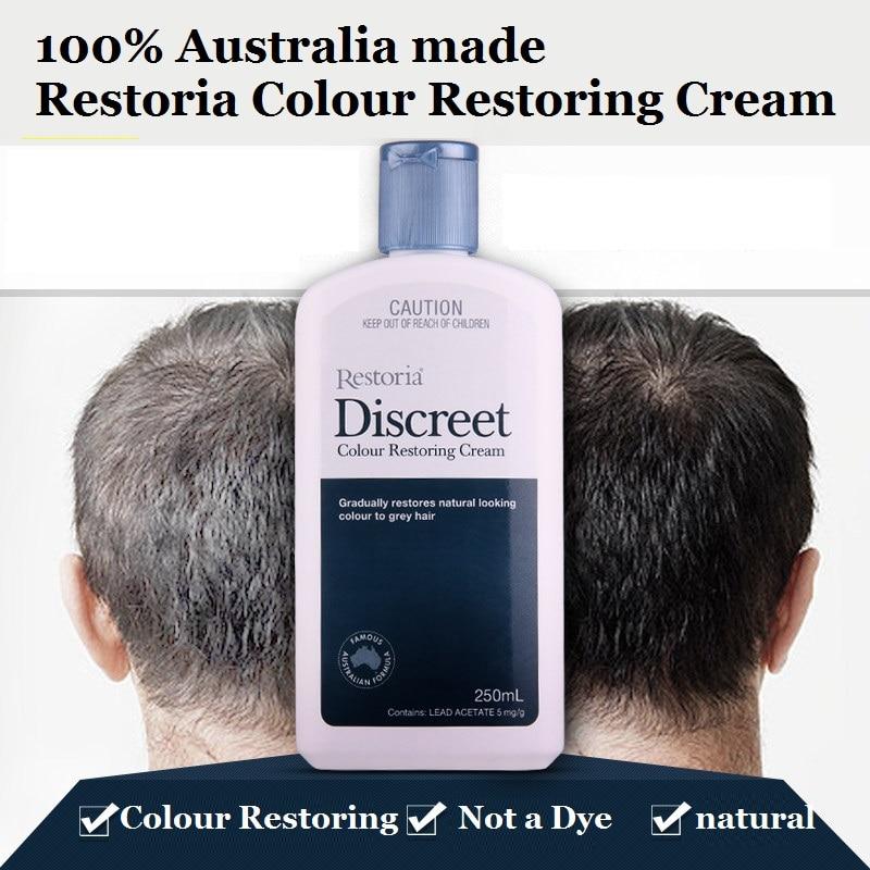 100%Australia made Restoria Discreet Colour Restoring Cream Lotion Hair Care250ml*2Pcs Reduce Grey Hair Suitable for Men &Women 2