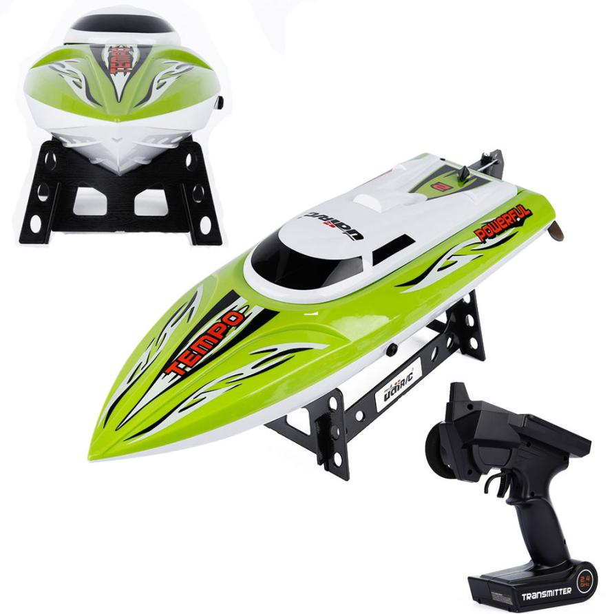 JJRC quadcopter motor Green 2.4G RC 30KM/H Racing Boat Speedboat Remote Controller for U ...