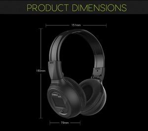 Image 5 - ワイヤレスヘッドフォン Bluetooth ハイファイステレオヘッドセットとマイク FM ラジオマイクロ SD カード再生 Led ディスプレイスクリーンイヤホン