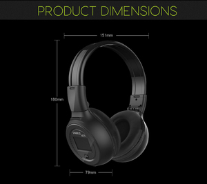 Image 5 - Wireless Headphones Bluetooth HiFi Stereo Headset With Microphone FM Radio Micro SD Card Play  LED Display Screen earphone
