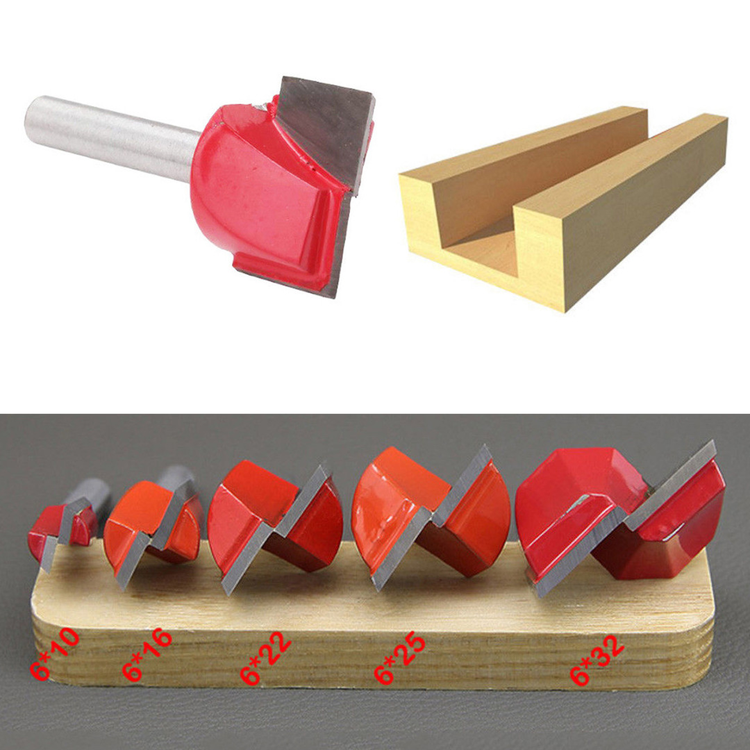 CNC Surface Planing Bottom Cleaning Flat End Milling Cutter Router Bit 6mm Shank