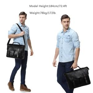 Image 2 - VASCHY Full Cowhide Leather Briefcase for Men Handmade Leather Messenger Bag Vintage Satchel 15.6 Laptop Business Shoulder Bag
