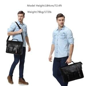 Image 2 - Мужской портфель из воловьей кожи VASCHY, винтажная деловая сумка мессенджер ручной работы для ноутбука 15,6 дюйма, 2019