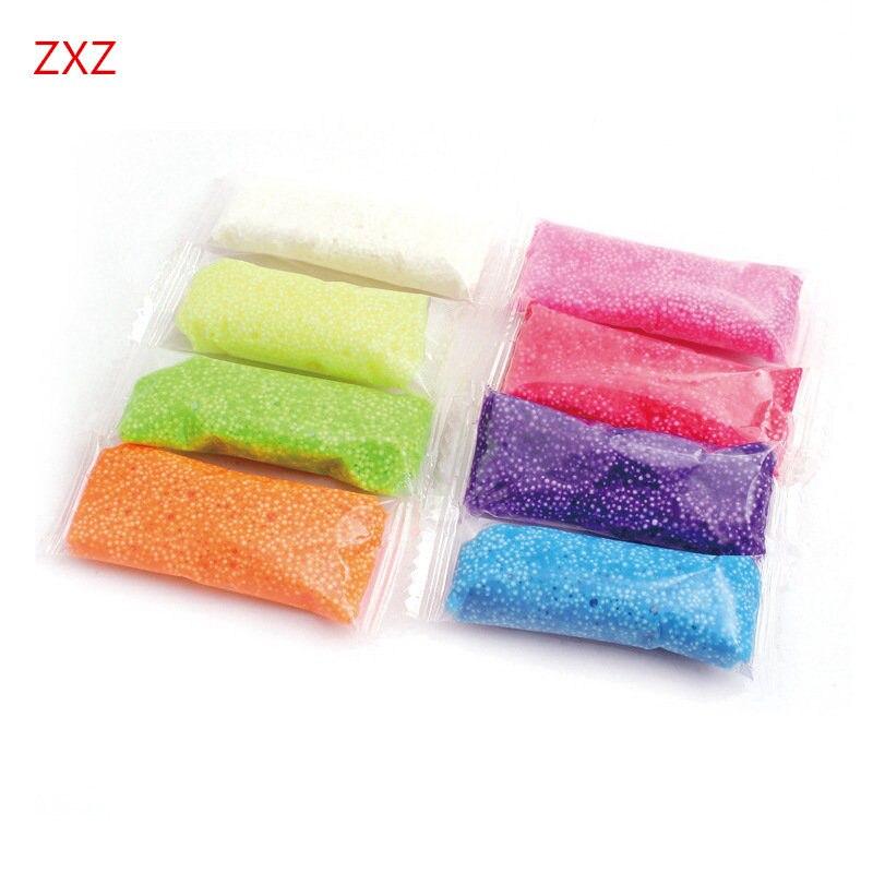 g colores hechos a mano diy suave espuma de polmero que modela la arcilla set nieve perla barro plastilina plastilina educa
