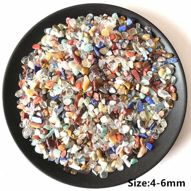 ドロップ無料天然石ミックス色カラフルなクリスタルクォーツミネラル標本ロックチップ砂利ラフ生エネルギー装飾