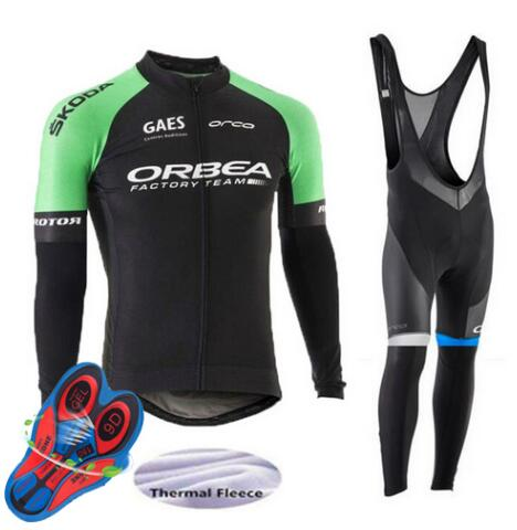 Orbea 2017 Cycling Jerseys Cycling Set Winter Thermal Fleece Long Sleeves Racing MTB Suit Maillot Bike Clothing Ropa Ciclismo W9 leobaiky 2018 brand cycling suit jerseys newest pro fabric wear long set bike clothing pants mtb bike maillot ropa cycling set
