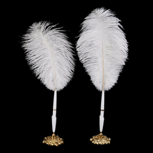 Long Feather Quill Wedding Reception Guest Ostrich Wedding Reception Guest Book Pen Fun Feather Set Gift