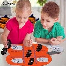 OurWarm Halloween games Kids Birthday Gift Felt Pumpkin Preschool Educational Toys Spooky Decoration