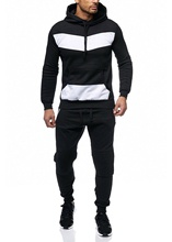 ZOGAA Men Tracksuit 2 Sets of New Fashion Jacket Sportswear Mens Sweatpants Hoodies Spring and Autumn Brand Pants