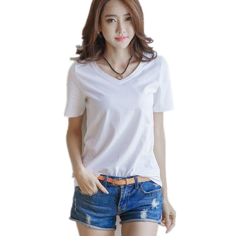 FashionCasual solide dames noir blanc t-shirt femmes t-shirt grande taille à manches courtes o-cou H097