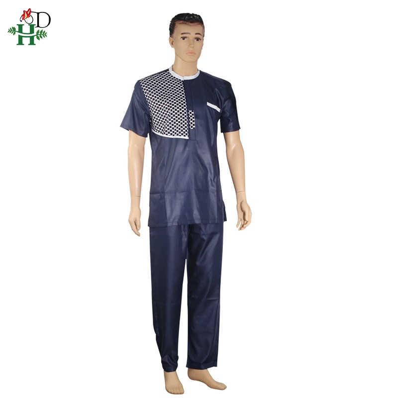 Dashiki アフリカ男性服 2019 リッシェアフリカ服 2 ツーピーススーツ dashiki シャツとズボンアンサンブルオム