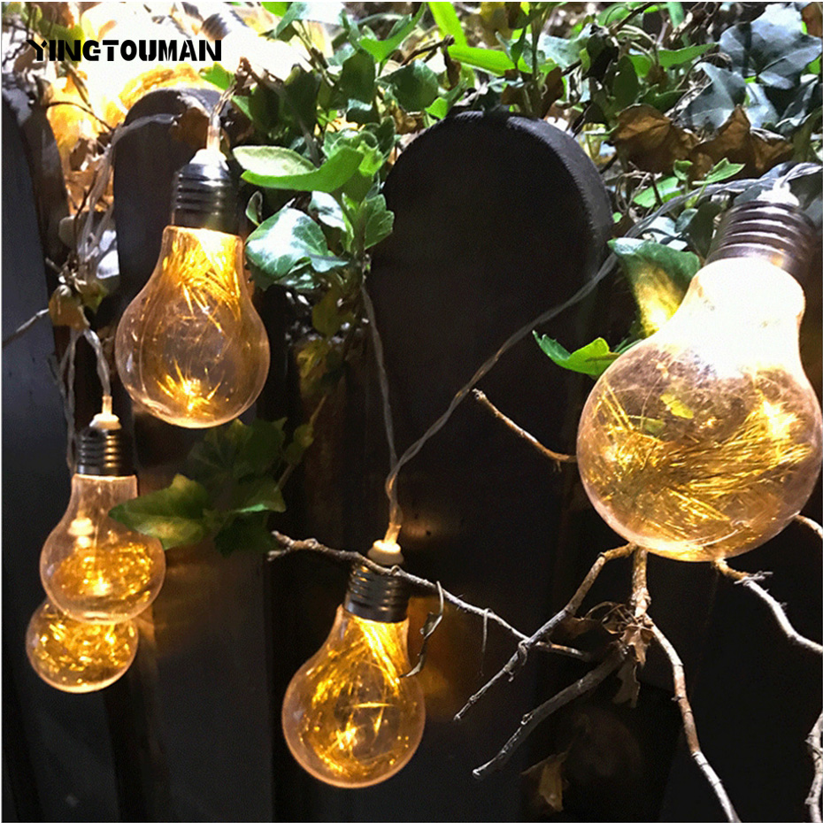 YINGTOUMAN Blub Ball Type Romantic Lamp USB LED String Light Christmas Holiday Wedding Party Decoration Lighting 4m 20LED