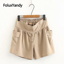 Cargo Shorts Women Safari Style Loose Pockets Plus Size High Waist Summer Shorts KKFY3484 zipper fly flap pockets cargo shorts