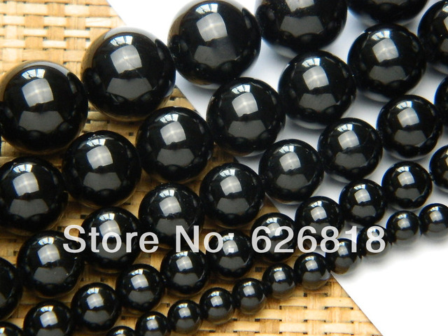 Wholesale  free shipping natural strand 12mm black tourmaline round loose beads gem stone jewelry accessories