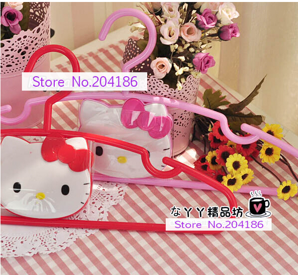 56267d2144b4 (10 Pcs Lot) Kawaii Hello Kitty Plastic Home Clothes Rack Clothing Rack  Hanger Color Hot Pink Pink-in Storage Holders   Racks from Home   Garden on  ...