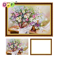 DPF 5D Diamond Embroidery Rose Flower With Frame Diamond Painting Cross Stitch Full Round Diamond Mosaic