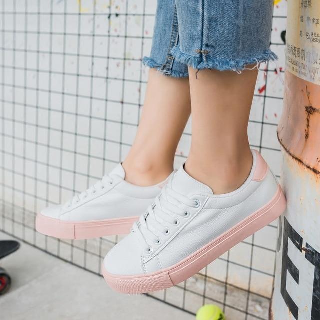 free shipping 2017 spring new fashion women shoes flats casual breathable PU cute princess shoes women casual platform shoes