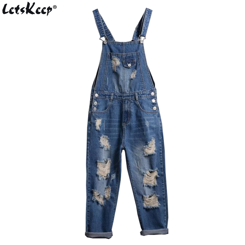 2017 LetsKeep Bib denim overalls men distressed stretch Ankle-length jeans pants ripped overalls jean men jumpsuits 5XL ,MA413 denim overalls male suspenders front pockets men s ripped jeans casual hole blue bib jeans boyfriend jeans jumpsuit or04