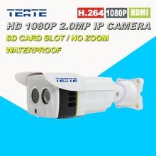 1080 P Ip-камера Открытый 2.0MP Full HD Проекта Массив ИК 25 М SD/TF Слот Для карт Памяти Двухстороннее Аудио Sony Датчик Изображения Высокого качества для Безопасного