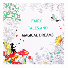 Fairy Tales and Magical Dreams book Childhood Dream Painting Drawing coloring Books Painting Johanna Basford Release Pressure