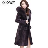 Лидирующий бренд Для женщин зимний шерстяной жакет с капюшоном модные пальто теплый толстый тонкий длинные пальто большой размер женские п