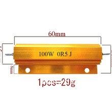 100 Вт 0,5 0,1 2 3 4 5 6 8 10 50 100 Ом фиксированный резистор мощность проволочное сопротивление алюминия+/-5%(на заказ