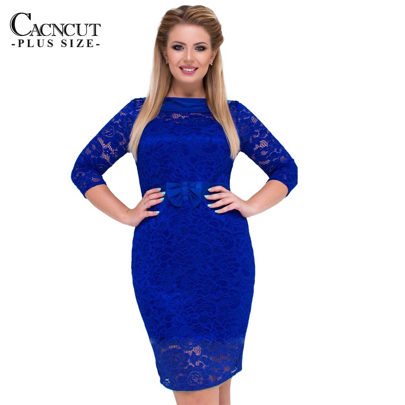 dd2e3f24a7f99 6XL Sexy Blue Lace Dress Women Plus Size Dresses Large Size Bodycon ...