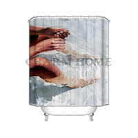 CHARMHOME Happy Feet Gift Moden Shower Curtain Bathroom Waterproof 66 X72 60 X72 48 X72 Free