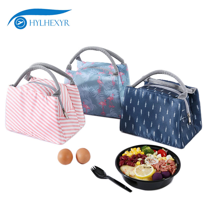 Hylhexyr Portable Insulated Oxford Flamingo Lunch Bag Thermal Food Picnic Food Bags For Women Kids Men Cooler Lunch Box Tote