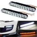 2015 Nova 2x30 LED Car Daytime Running Luz DRL Luz Do Dia dia correndo luzes Do Carro lâmpada com Acender As Luzes durante o dia levou lâmpadas