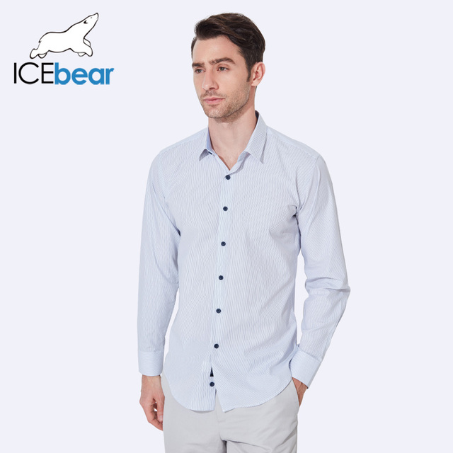 ICEbear 2017 Style Striped Men Shirts Spring And Summer Casual Fashion Slim Fit Clothes Single Breasted For Men CD057D