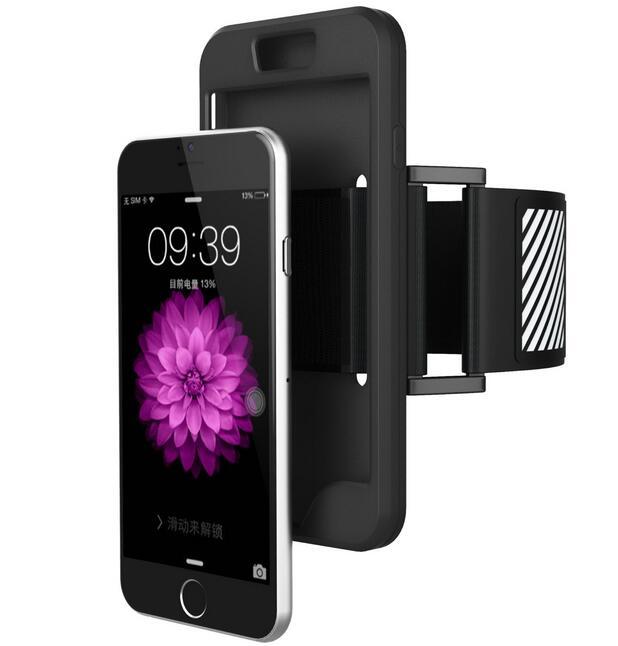 Szilikon tok + GYM karszalag iPhone 5S SE 6 6S 7 8 Plus X Sport futó - Mobiltelefon alkatrész és tartozékok