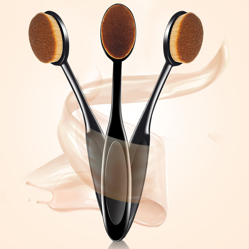 Hot 1Pc Makeup Brush Toothbrush Cosmetics Face Powder Foundation Make Up Brush Toothbrush Tool Synthetic Hair Maquiagem 15cm in Eye Shadow Applicator from Beauty Health