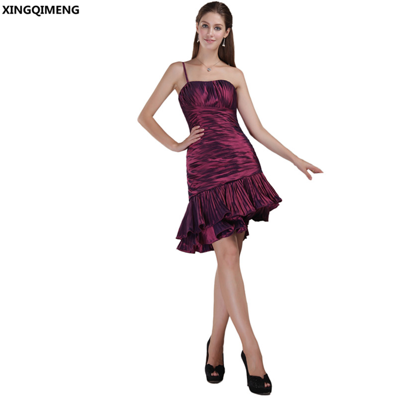 Sexy Mermaid Cocktail Dresses Knee Length Cheap Simple