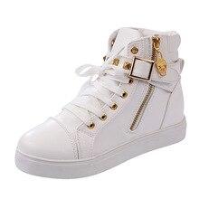 Fashion Women Casual Shoes 2016 Breathable Leopard High Top Platform Canvas Shoe Ladies Short Ankle Boots Girls