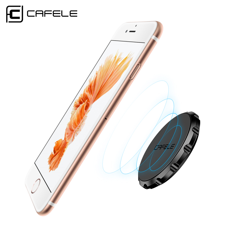 CAFELE Mini Universal Magnetic Car Holder Multifunctional Strong Magnetic Flat Stand Bracket for iphone X 8 7 Samsung S8 Huawei
