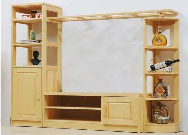 entertainment units living room chenille furniture solid wood pine tv table cabinet factory direct product by request or drawing