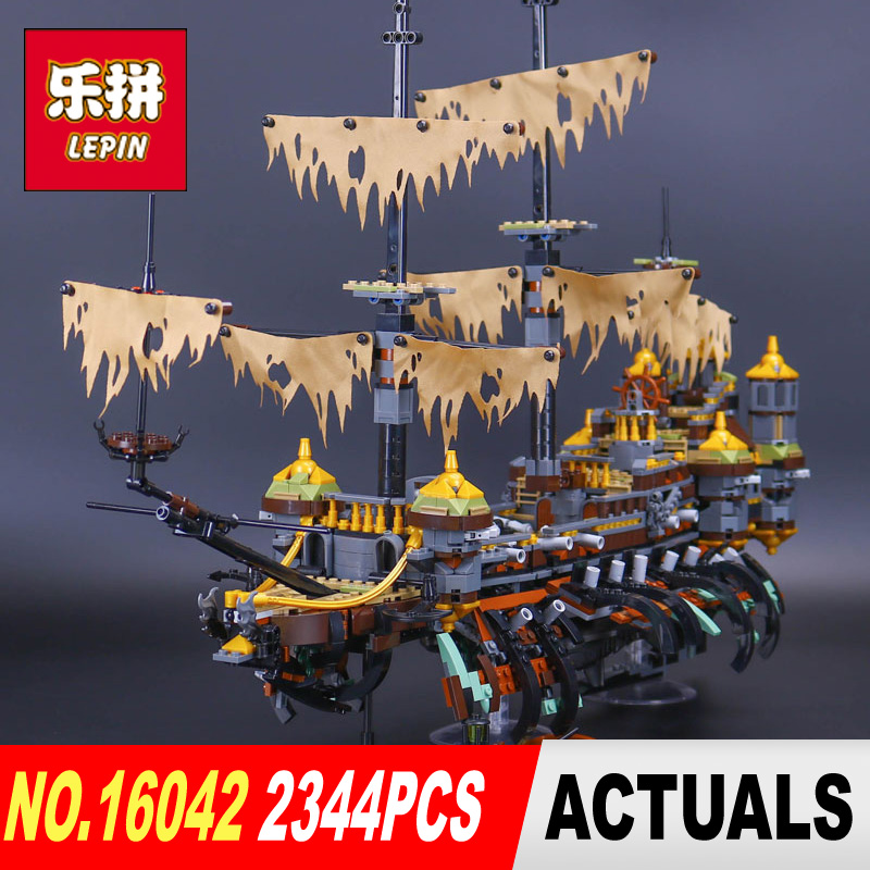 Lepin 16042 2344Pcs New Pirate Ship Series The Slient Mary Set Children Educational Building Blocks Bricks Toys Model Gift 71042 susengo pirate model toy pirate ship 857pcs building block large vessels figures kids children gift compatible with lepin