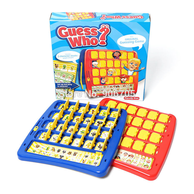 Fun Family Guessing Board Game GUESS WHO Educational toys, Who Is It game 2 character sheets-people and pets! 2+ Pemain