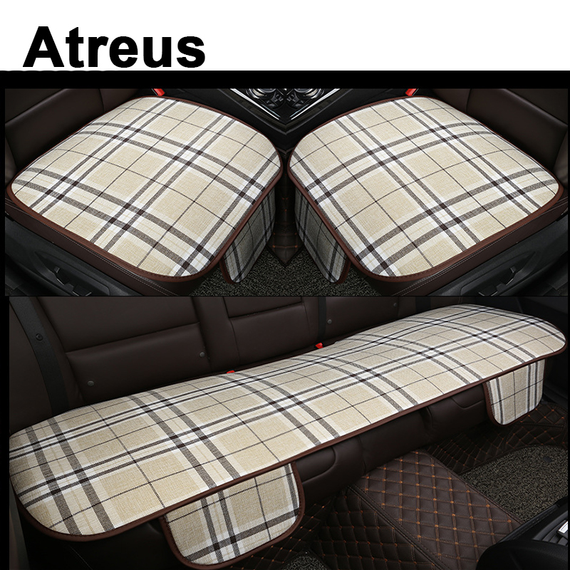 Atreus Car Automobiles Business Grid Seat Cushion Covers For BMW e46 e39 e36 E90 Audi a4 b6 a3 a6 c5 Renault duster Lada granta