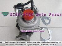 KP35 54359700005 54359880005 Turbocharger Turbo Para FIAT Dobl Panda Punto Multijet SJTD Idéia Para OPEL Corsa Musa 1.3L Y17DT 1.2L