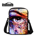 Dispalang 3D eye printing messenger bags for men cool lifelike eye design women's cross body bag small shoulder bags mini flap