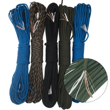 50 / 100 Feet Waterproof Survival Emergency Rescue Mil Type III Parachute Fire Tinder Cord 550 Paracord Rope 7 Inner Strands